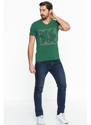 Comienzo Baskılı Tişört Yeşil